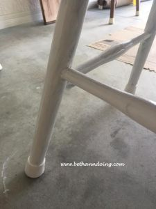 Before and After of Dining Room Table with Chalk Paint