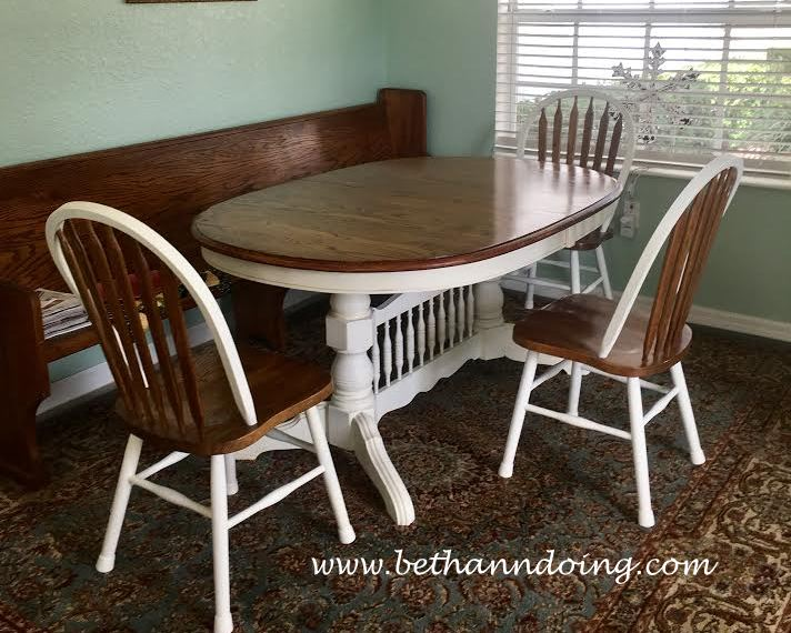 chalk paint a dining room table and chairs