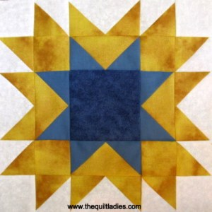 How to make the quilt pattern Shadow Star