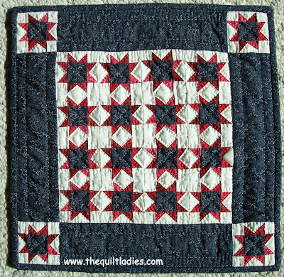 Star Red, White and Blue Quilt