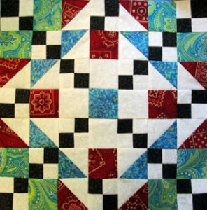 Square and Square Quilt Block Pattern