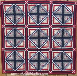 Small Red, White and Blue Quilt
