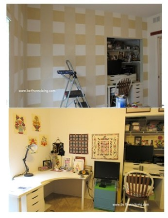 It\'s All About the Plaid, How I Painted my Plaid Walls -