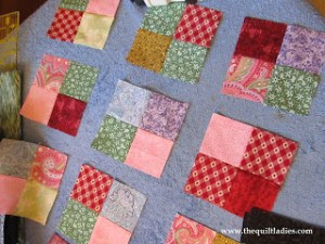 four patch squares for a table topper