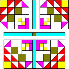 Golden Eye Quilt Pattern Block