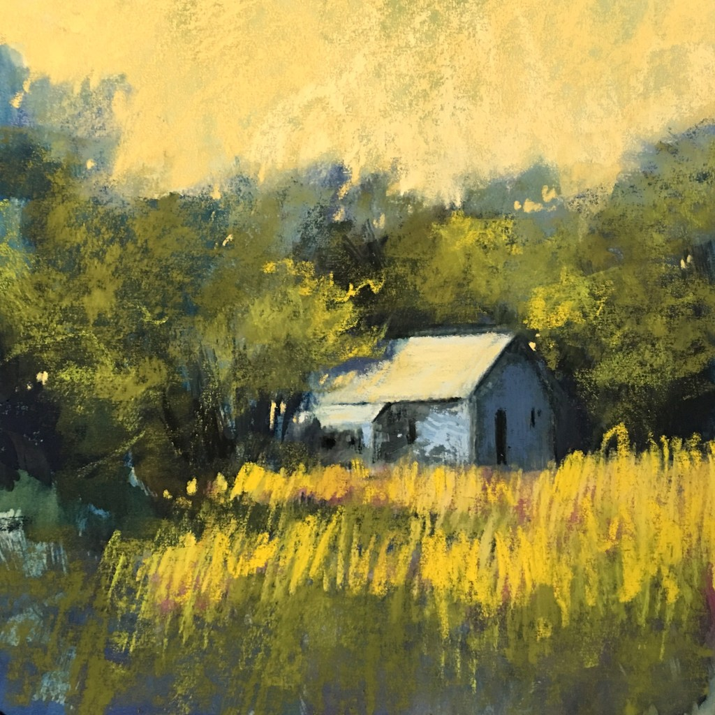 Our Blessed Summer - Contemporary Impressionism | Landscape Pastel Paintings by Bethany Fields