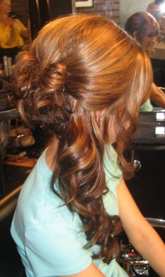 Fancy hair updo's for Graduation Parties