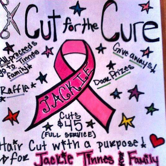 Hair cut fundraiser for Jackie Tinnes