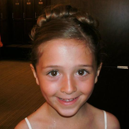cute little girl updo for wedding
