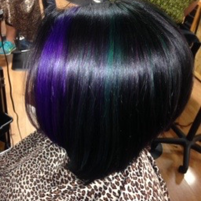 black purple and teal fashion color