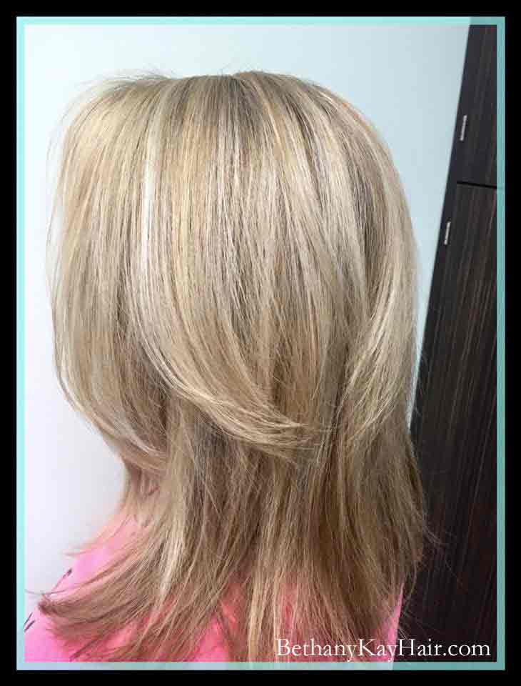 blond highlights sombre parker co
