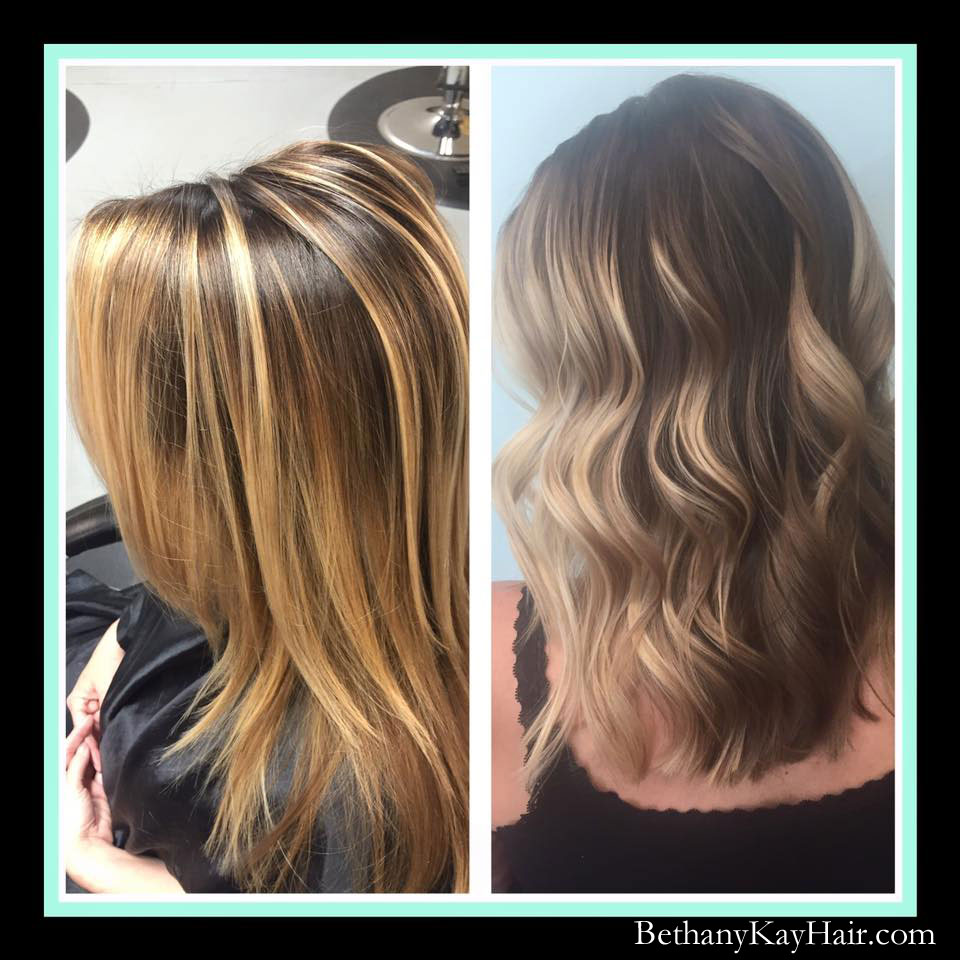 ombre balyage color techniques in dark hair Parker colorado