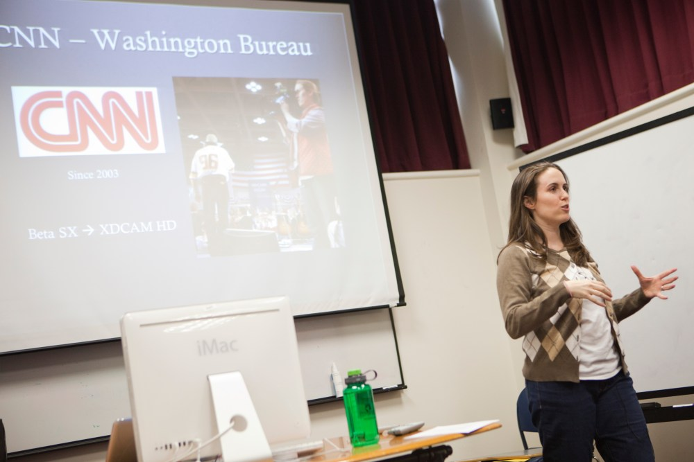 CNN Bethany Swain Guest Speaker for Backpack Photojournalist Class at AU