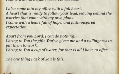 A Blogger's Prayer