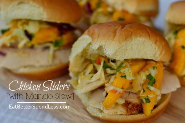 Chicken Sliders with Mango Salsa
