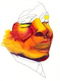 "Watercolour & Pen on Paper, 8""x10"""