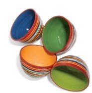 Striped Ceramic Bowl Set
