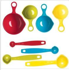 Colorful Measuring Cup and Spoon Set