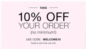 10 % off with coupon code WELCOME10