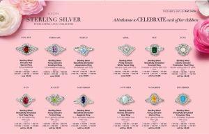 Avon Sterling Silver Birthstone Rings