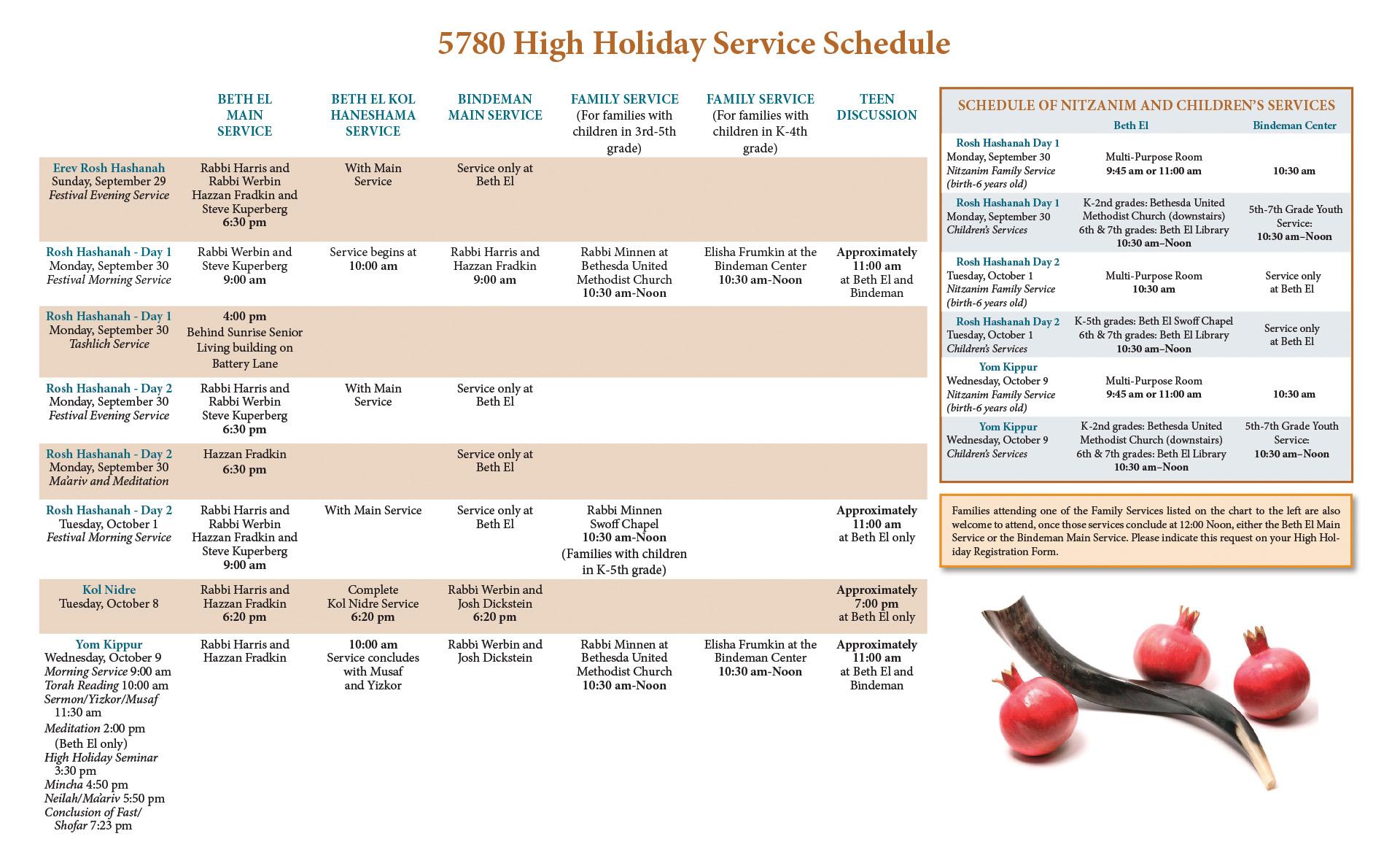 High Holiday Services – Congregation Beth El of Montgomery
