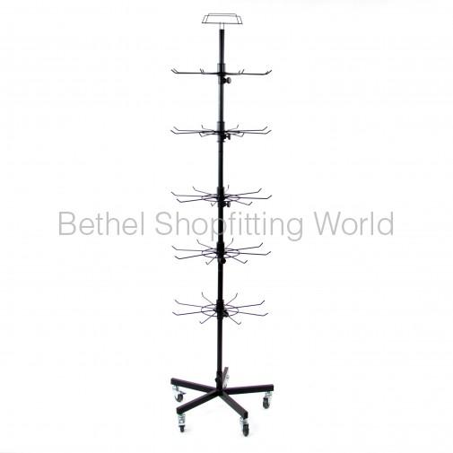 rotating floor spinner display rack 40 hooks sg c16