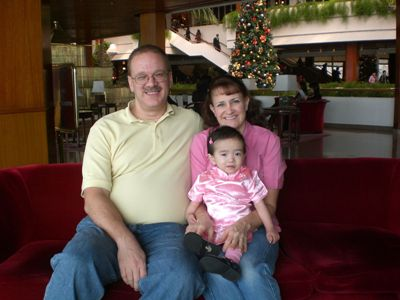 Pat & Kim Weber & their adopted Chinese baby Hadassah