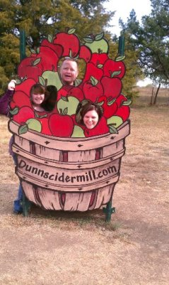 At the cider mill with Leah, Ray, and Heather