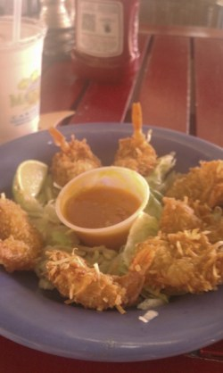 Coconut shrimp at Grand Turk