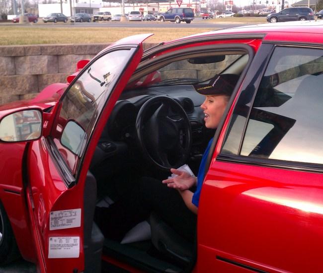 Sandy's Christmas Surprise car