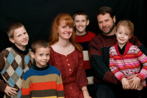 Susan Evans & family