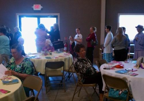 Ladies in line, Archie Baptist Church