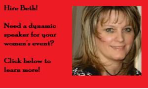 Hire Beth Jones to speak at your women's event