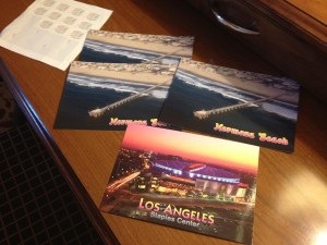 Los Angeles postcard souvenirs