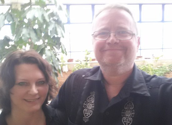 Beth and Ray Jones, Kisimu airport, Kenya, Africa