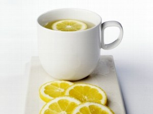 Warm lemon water -http://www.healthywriter.com/the-power-of-lemon/