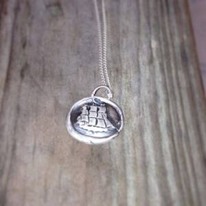 Ship sterling silver necklace. JenniferWhiddon.com