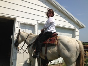 Me on quarterhorse Western show horse Ace