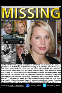 Missing poster to locate Jennifer Huston