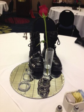 boots table decor