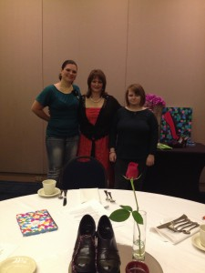 Beth Jones with daughters Heather and Leah at Beth's Cinderella women's conference