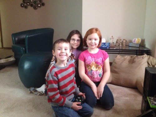 Our grandchildren: Eden's son Jacob, Heather's daughters Annabelle and Violet