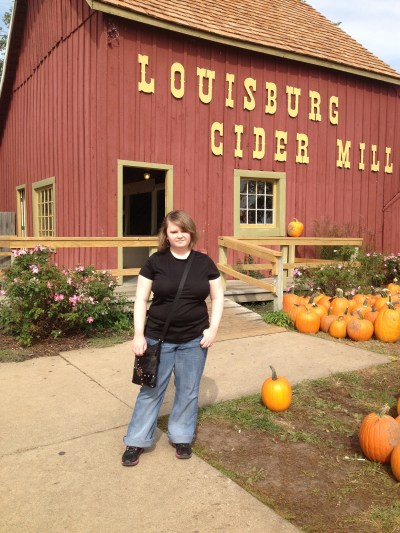 Leah at cider mill