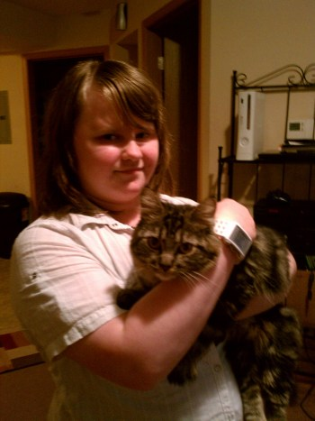 Leah and cat