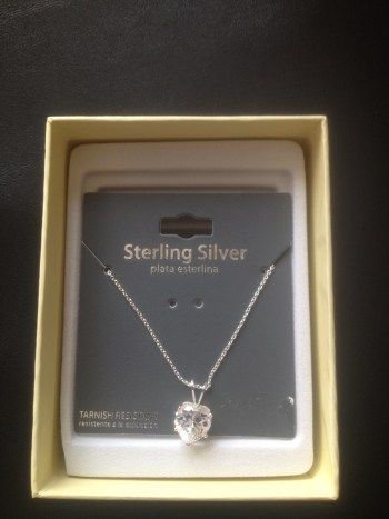 Leah's sterling silver heart necklace