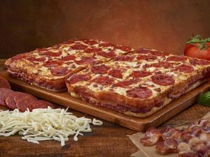 Bacon-wrapped deep dish pizza Little Caesar's Pizza photo