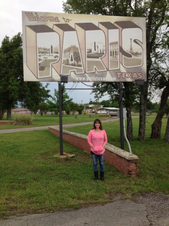 Me in front of Paris, Texas sign