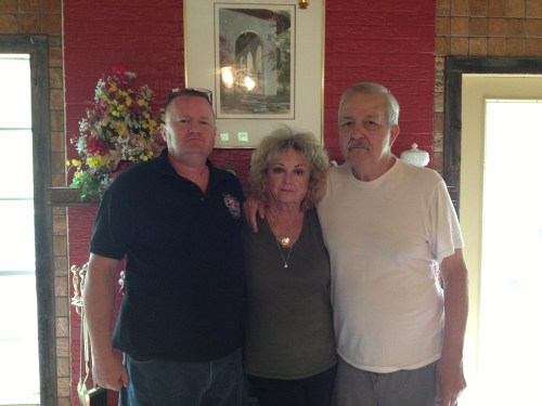 Ray, his mom Judy and his stepdad Leonard