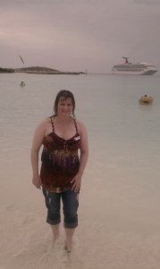 me on beach in the Bahamas