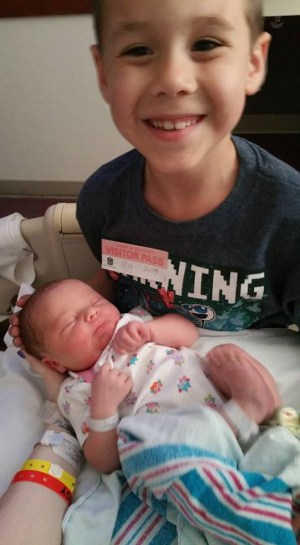 Jacob and his baby sister Piper